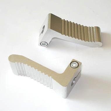 Race Voetsteunen - Hoge Grip! - Geanodiseerd Aluminium, kleur: zilver