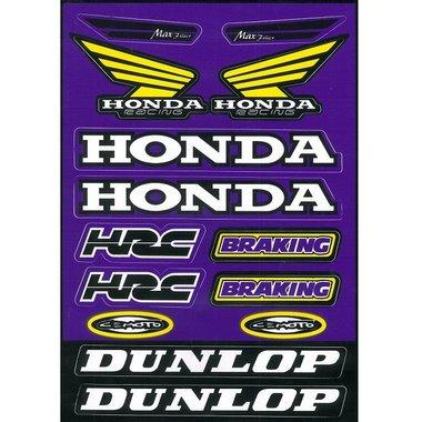 Stickerset Honda ROOD - GROOT VEL: 21x30cm