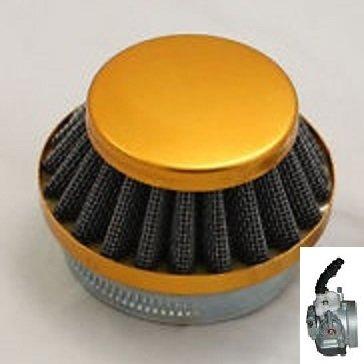 Race Luchtfilter - voor de Dellorto imi (14mm) carburateur - bevestigingsdiameter: 58mm - kleur: GOUD